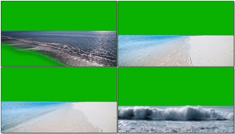 绿屏抠像大海海滩视频素材