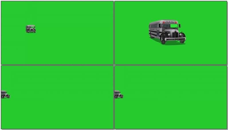 绿屏抠像巴士校车视频素材
