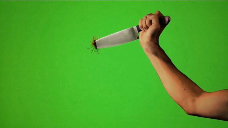 绿屏抠像刀砍刀扎视频素材