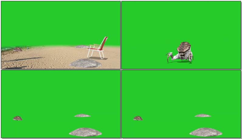 绿屏抠像海怪视频素材