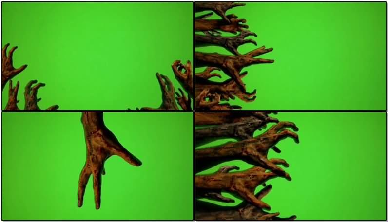 绿屏抠像僵尸手臂视频素材
