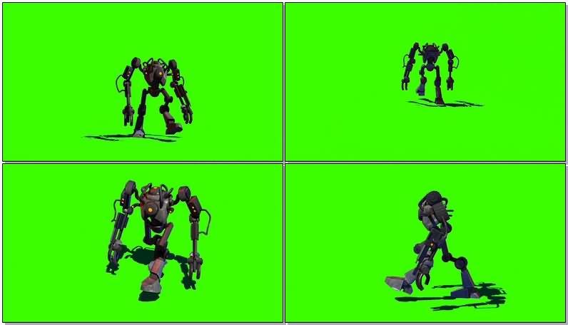 绿屏抠像机器人视频素材