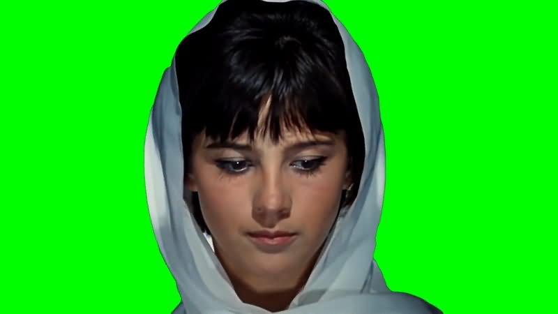 绿屏抠像头巾美女视频素材