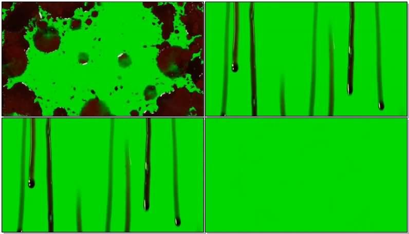绿屏抠像血液流血视频素材