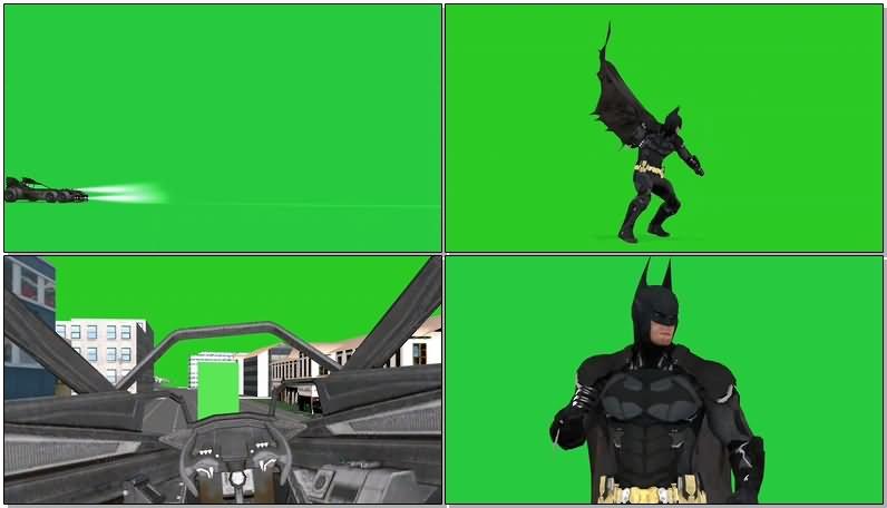 绿屏抠像蝙蝠侠视频素材