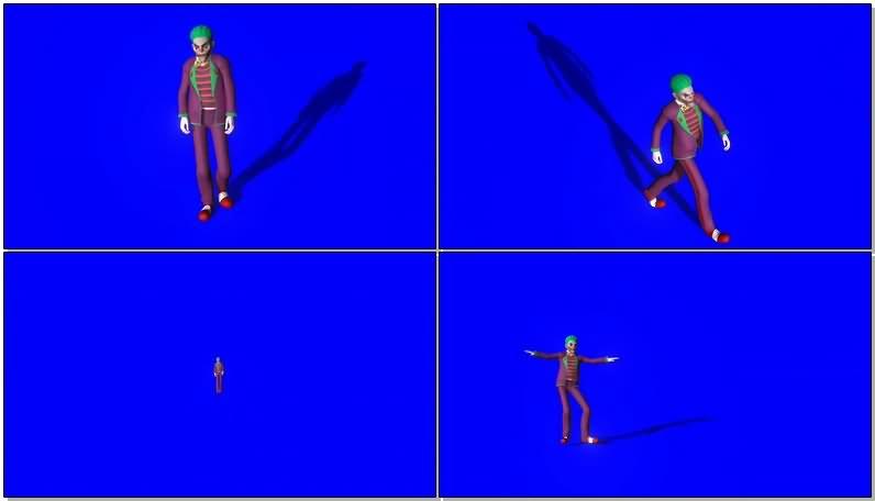 绿屏抠像蝙蝠侠仇敌小丑视频素材