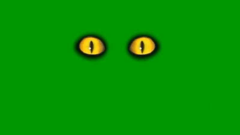 绿屏抠像恐怖的眼睛视频素材
