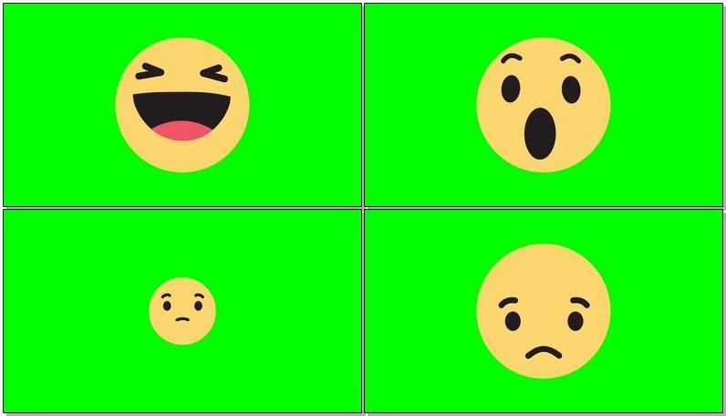 绿屏抠像黄人笑脸表情视频素材