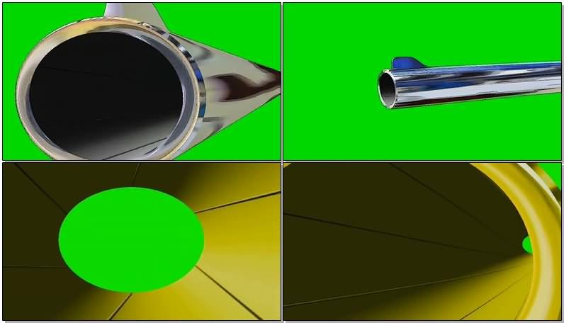 绿屏抠像007枪管片头视频素材