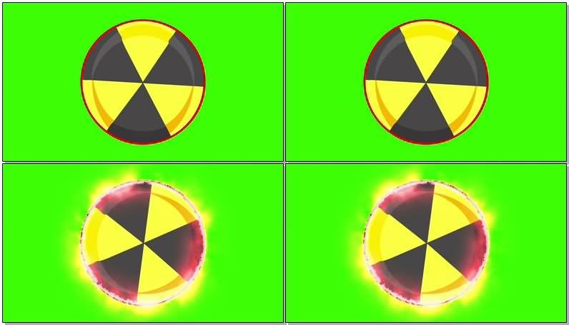 绿屏抠像危险品标志视频素材