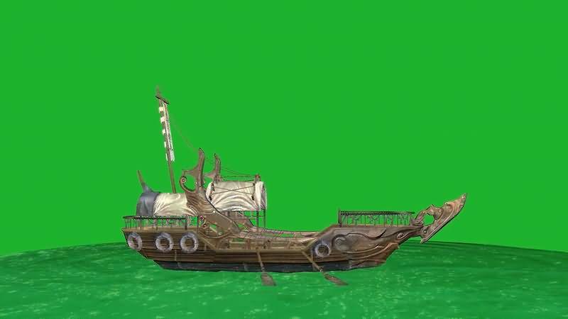 绿屏幕抠像古代海船.jpg