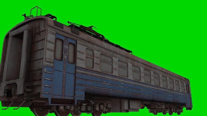 绿屏幕抠像列车车厢视频素材