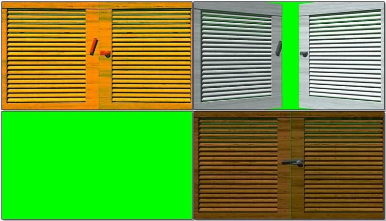 绿屏幕抠像百叶窗视频素材