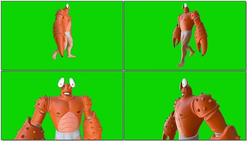 绿屏幕抠像螃蟹怪视频素材