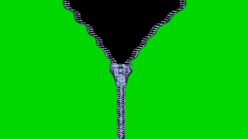 绿屏幕抠像拉锁拉链视频素材