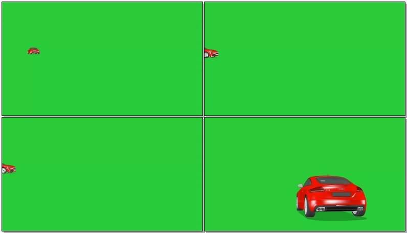 绿屏幕抠像红色轿车视频素材