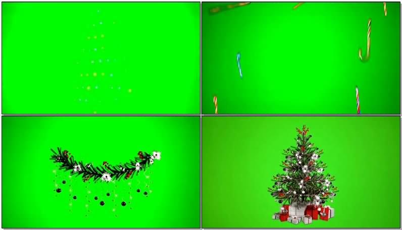 绿屏幕抠像圣诞节装饰视频素材