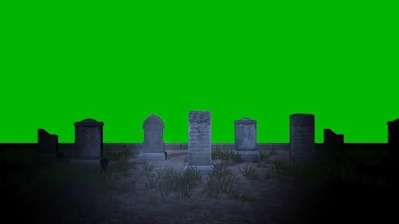 绿屏幕抠像坟地墓碑视频素材
