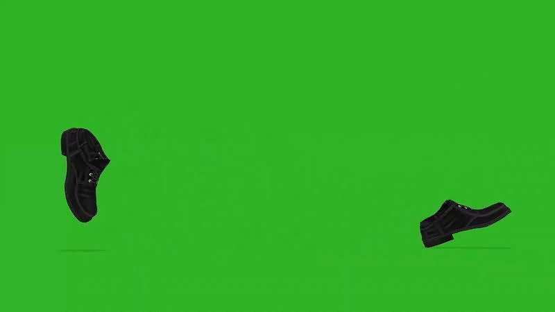 绿屏幕抠像走路的鞋子视频素材