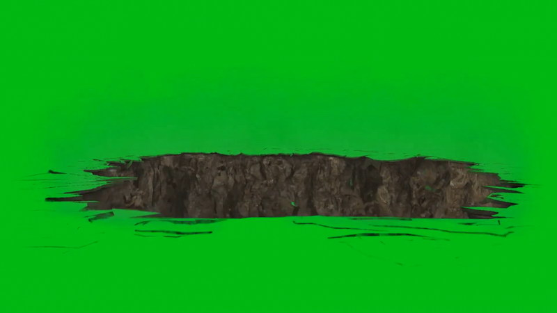 绿屏幕抠像地陷视频素材
