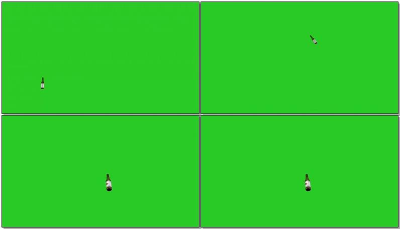 绿屏幕抠像啤酒瓶视频素材