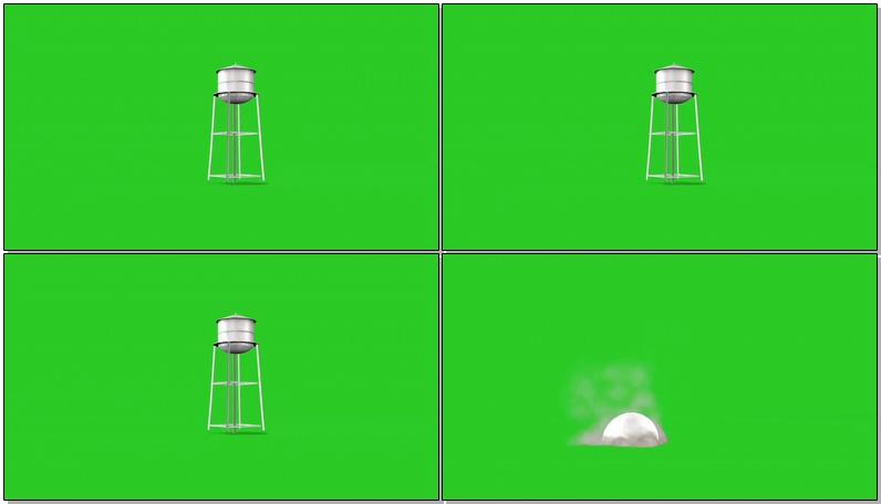 绿屏幕抠像水塔视频素材