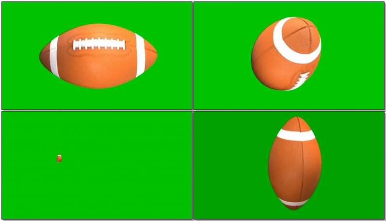 绿屏幕抠像橄榄球视频素材