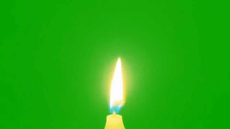 绿屏幕抠像燃烧的蜡烛视频素材