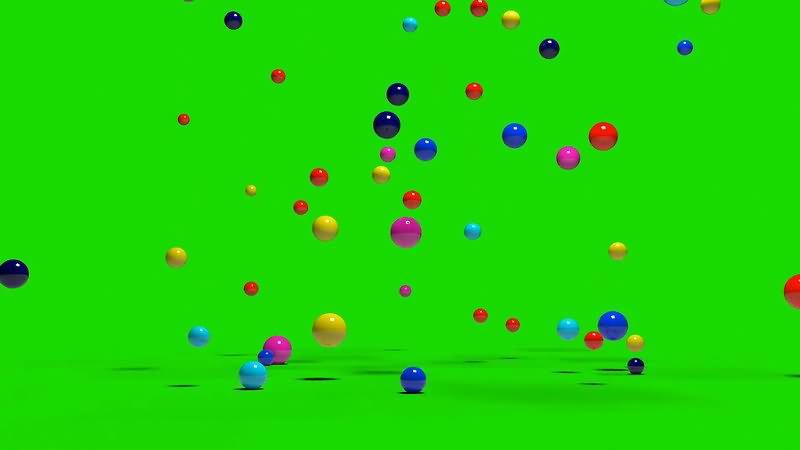绿屏幕抠像彩色皮球视频素材