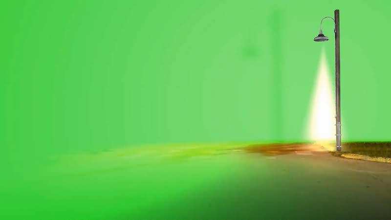 绿屏幕抠像路灯视频素材