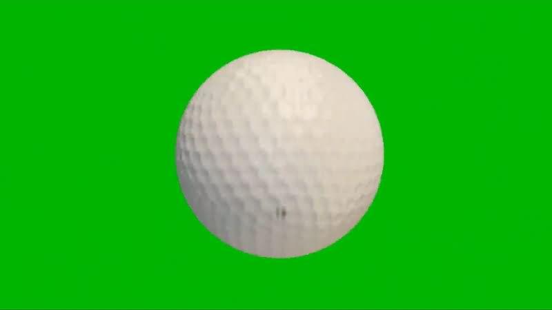 绿屏幕抠像高尔夫球视频素材
