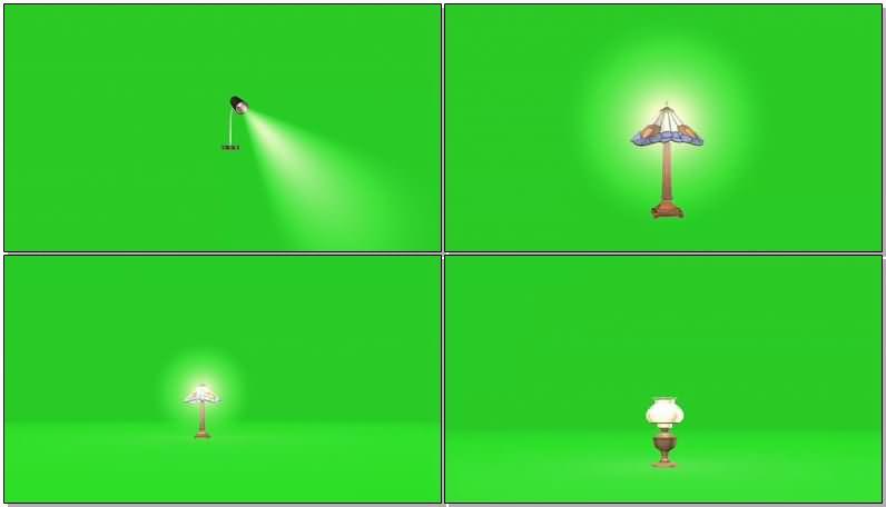 绿屏幕抠像台灯视频素材
