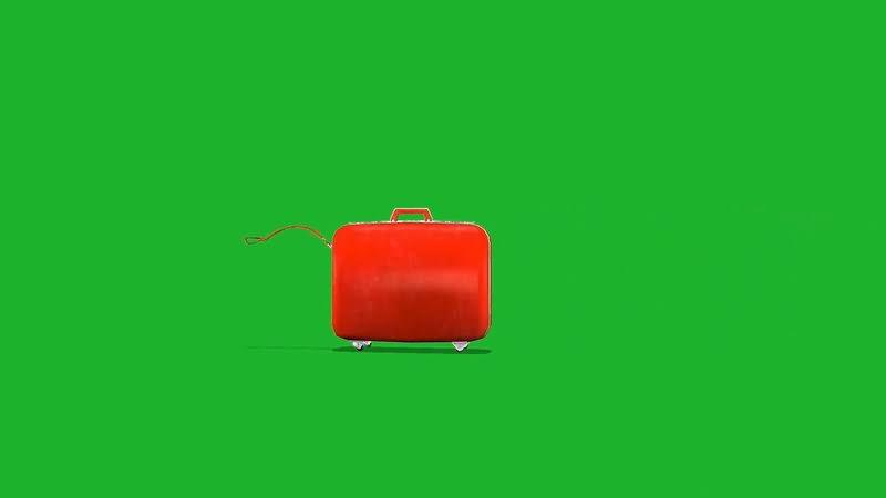 绿屏幕抠像旅行箱视频素材