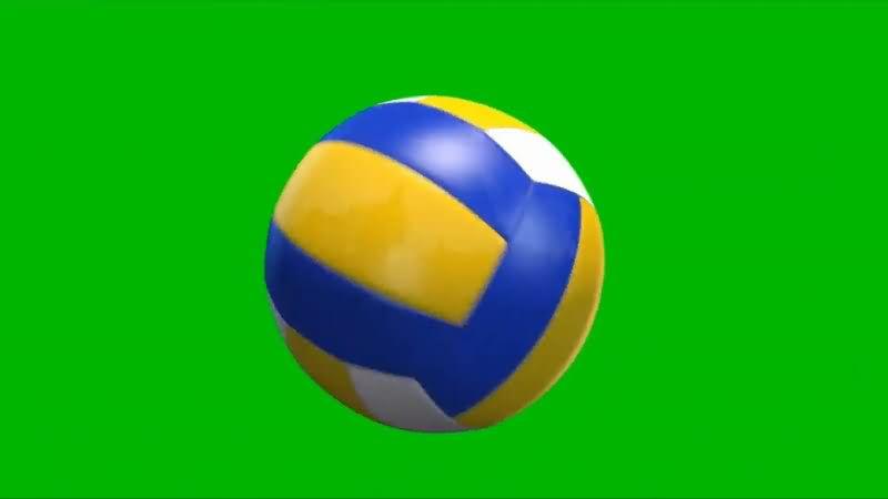 绿屏幕抠像排球视频素材