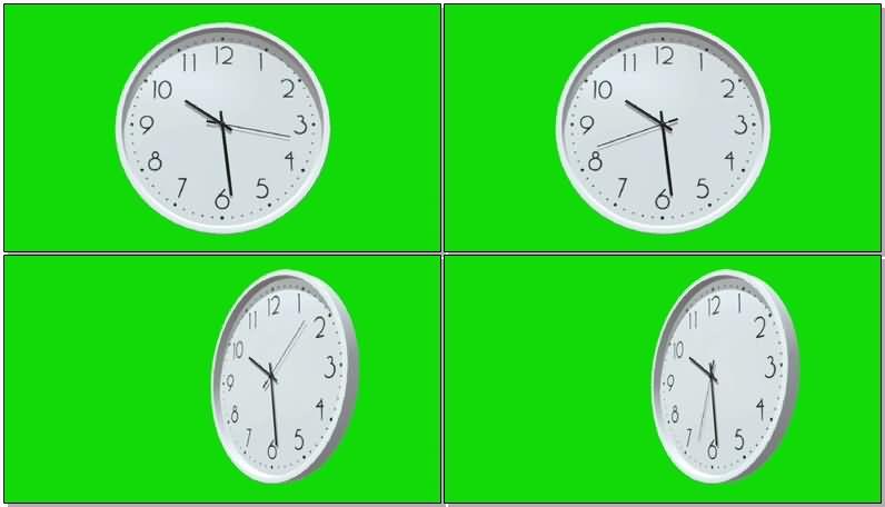 绿屏幕抠像钟表视频素材