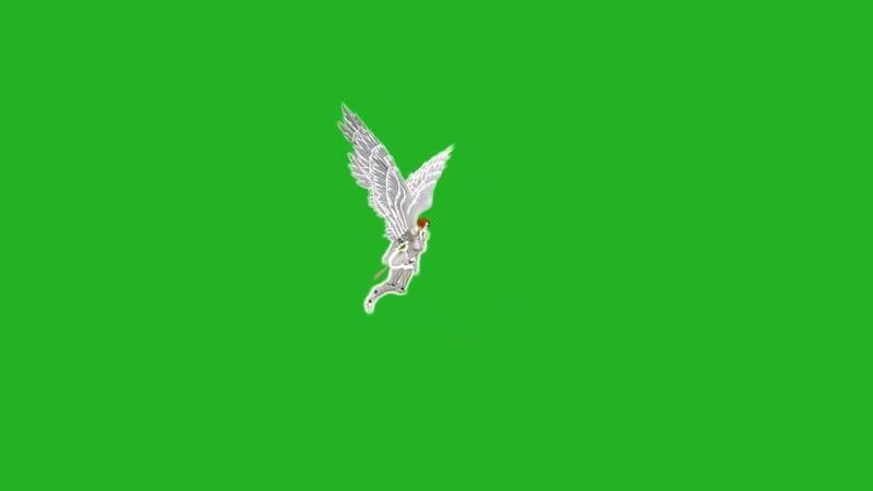 绿屏幕抠像天使战士视频素材