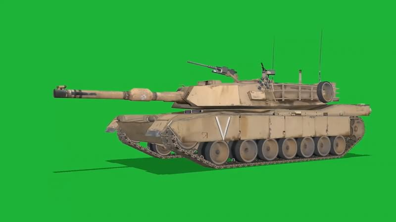 绿屏幕抠像坦克视频素材