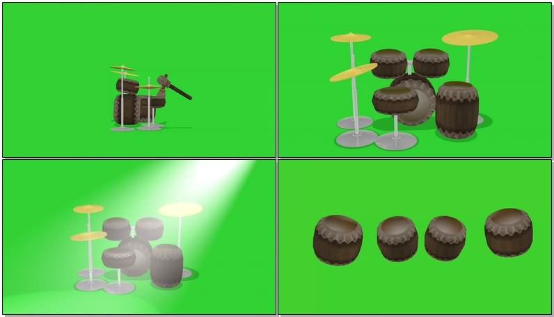 绿屏抠像视频素材架子鼓