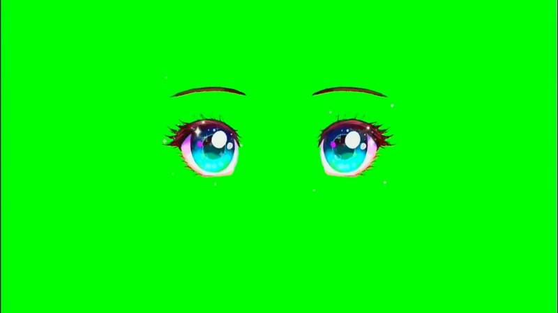 绿屏抠像视频素材可爱大眼睛