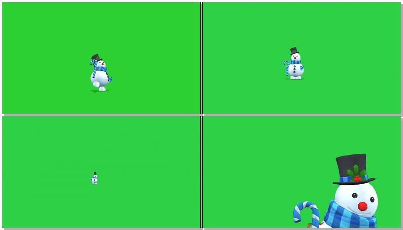 绿屏抠像视频素材圣诞雪人