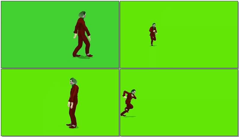 绿屏抠像视频素材小丑