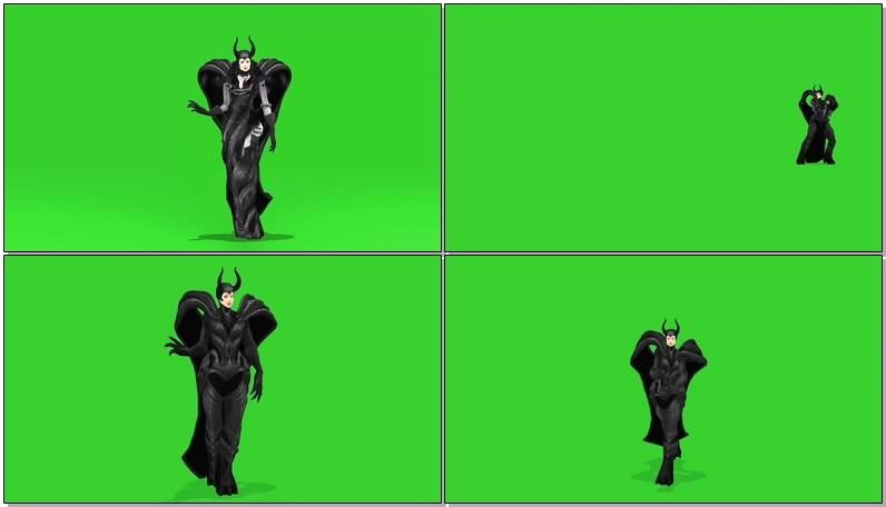 绿屏抠像视频素材邪恶女巫