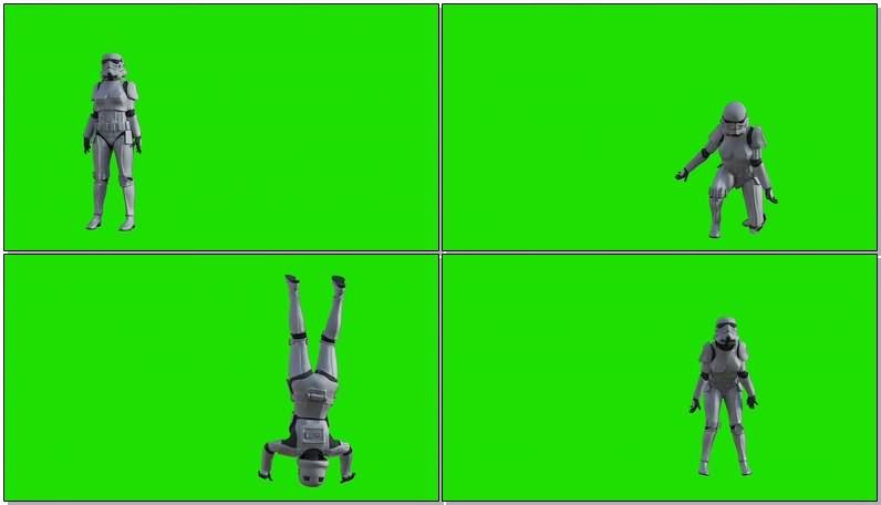 绿屏抠像视频素材星球大战士兵