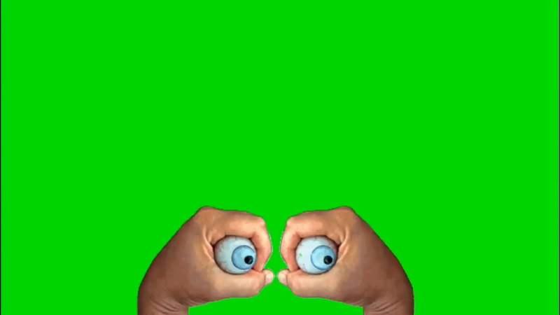 绿幕视频素材眼球