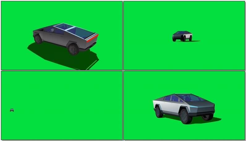 绿幕视频素材未来汽车