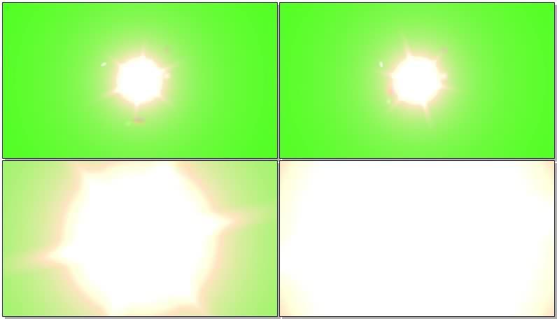 绿幕视频素材太阳强光