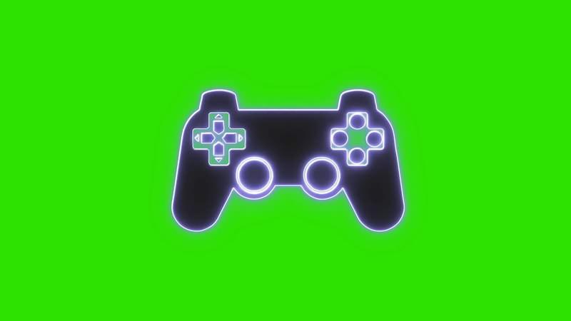 绿幕视频素材游戏机手柄