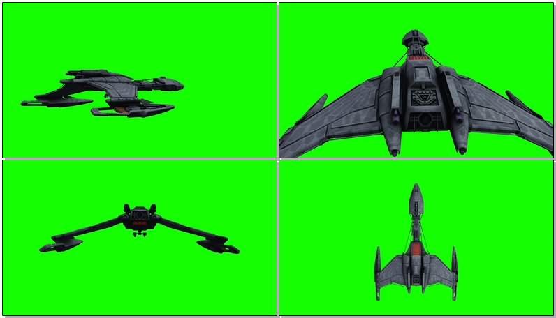 绿幕视频素材宇宙飞船战舰