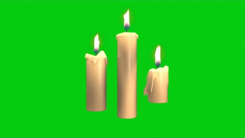 绿幕视频素材白蜡烛