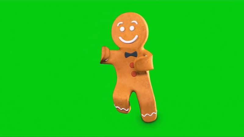 绿幕视频素材姜饼人